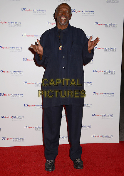 Lou Gossett, Jr. <br /> Los Angeles premiere of &quot;Surviving Grace&quot; at the Stephen J. Ross Theater on the Warner Bros. Studios lot in Burbank, California, USA.<br /> September 25th, 2013<br /> full length black jacket trousers blue hands arms<br /> CAP/ADM/BT<br /> &copy;Birdie Thompson/AdMedia/Capital Pictures