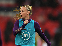 9th November 2019; Wembley Stadium, London, England; International Womens Football Friendly, England women versus Germany women; Beth Mead of England warms up - Editorial Use