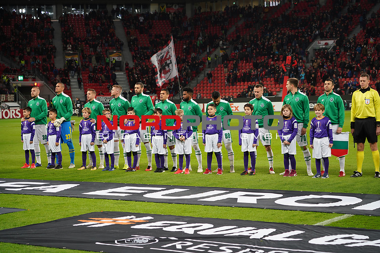 29.11.2018, BayArena, Leverkusen, Europaleque, Vorrunde, GER, UEFA EL, Bayer 04 Leverkusen (GER) vs. Ludogorez Rasgrad (BUL),<br />  <br /> DFL regulations prohibit any use of photographs as image sequences and/or quasi-video<br /> <br /> im Bild / picture shows: <br /> die bulgarische Mannschaft<br /> <br /> Foto © nordphoto / Meuter<br /> <br /> <br /> <br /> Foto © nordphoto / Meuter