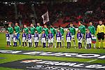 29.11.2018, BayArena, Leverkusen, Europaleque, Vorrunde, GER, UEFA EL, Bayer 04 Leverkusen (GER) vs. Ludogorez Rasgrad (BUL),<br />  <br /> DFL regulations prohibit any use of photographs as image sequences and/or quasi-video<br /> <br /> im Bild / picture shows: <br /> die bulgarische Mannschaft<br /> <br /> Foto &copy; nordphoto / Meuter<br /> <br /> <br /> <br /> Foto &copy; nordphoto / Meuter