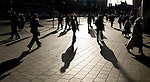 Shadowplay - shadows on Dublin's O'Connell Street