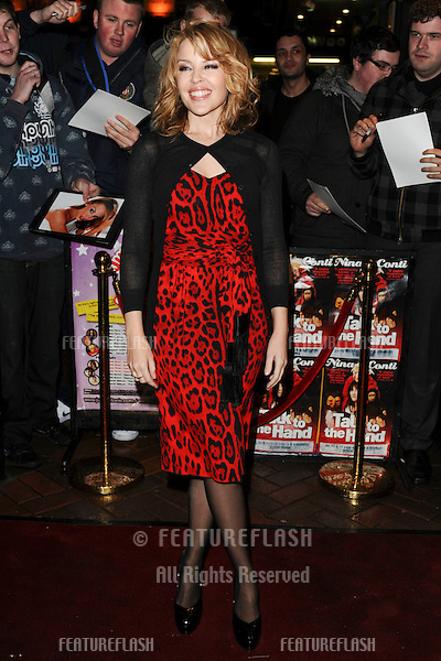 Kylie Minogue arrives for the Miss Polly Rae: The All New Hurly Burly Show 1st night, Leicester Square, London.  24/02/2010  Picture by: Alexandra Glen / Featureflash