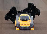 Feb 20, 2015; Chandler, AZ, USA; NHRA funny car driver Del Worsham during qualifying for the Carquest Nationals at Wild Horse Pass Motorsports Park. Mandatory Credit: Mark J. Rebilas-