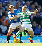 12.05.2019 Rangers v Celtic: Scott Arfield and Jonny Hayes