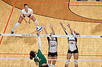 SAN ANTONIO, TX - NOVEMBER 7, 2014: The University of Alabama at Birmingham Blazers fall to the University of Texas at San Antonio Roadrunners 3-0 (25-12, 25-22, 25-23) at the UTSA Convocation Center. (Photo by Jeff Huehn)