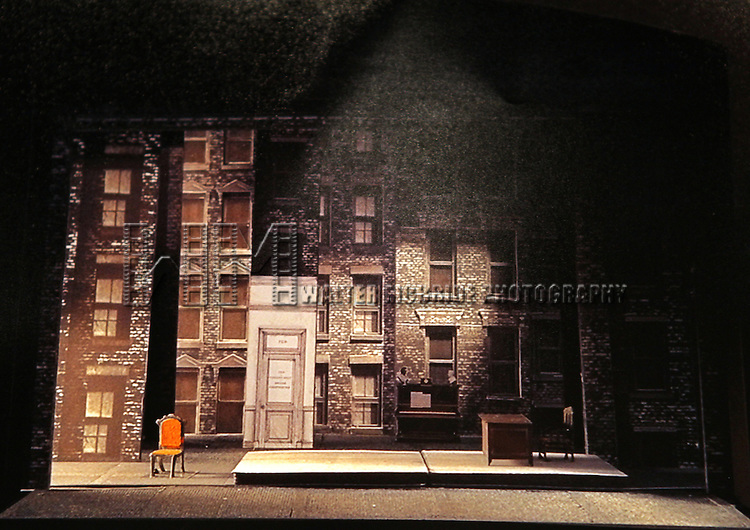 Stage & Set by Michael Yeargan at the Meet & Greet for the Lincoln Center Theater's 75th Anniversary Production of 'Golden Boy' at their Rehearsal Studios on 10/25/2012 in New York.
