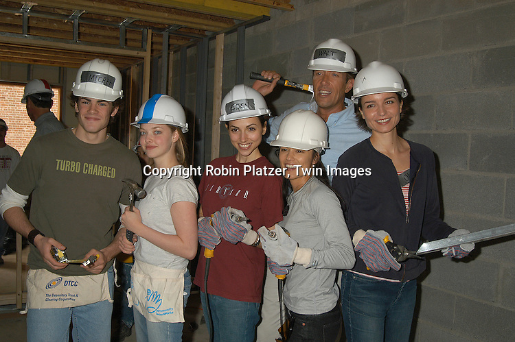..at a site in the Bronx for Habitat for Humanity on ..May 28, 2003. ....Robin Platzer, Twin Images