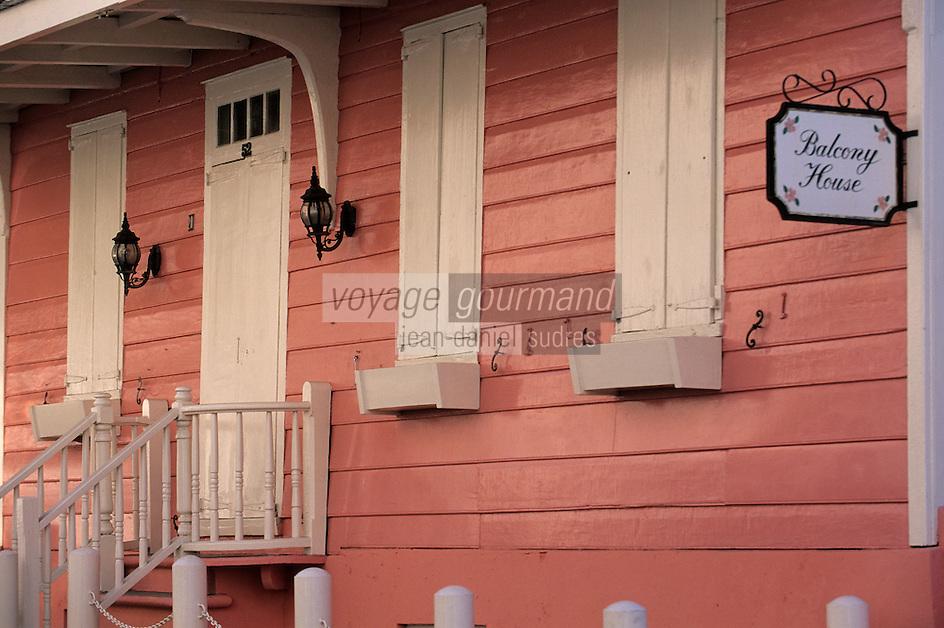 Iles Bahamas / New Providence et Paradise Island / Nassau: cette maison de bois la plus ancienne de l'ile XVIIIè siècle