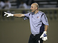 2 April 2005:  Matt Reis, GK, of Revolution against Earthquakes at Spartan Stadium in San Jose, California.   Earthquakes and Revolutions tied at 2-2.  Credit: Michael Pimentel / ISI