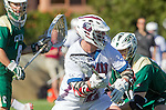 Los Angeles, CA 02/06/16 - Connor Veit (Cal Poly #10) and Nate Fredricks (Loyola Marymount #2)in action during the Cal Poly SLO Mustangs vs Loyola Marymount Lions MCLA Men's Lacrosse game.  Cal Poly defeated LMU 24-5