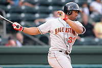 July 21, 2008: Outfielder Garrett Bass (32) of the Hagerstown Suns, Class A affiliate of the Washington Nationals, in a game against the Greenville Drive at Fluor Field at the West End in Greenville, S.C. Photo by:  Tom Priddy/Four Seam Images