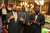 The Hyde Park Chamber of Commerce held its monthly First Thursday networking event this past Thursday at the Hyatt Place Chicago &ndash; South / University Medical Center located at 5225 S. Harper Ave.<br /> <br /> 9579 - Hyatt staff members, Maurice Nelson, General Manager, Anthony Beach and LeRoy Brown Jr.