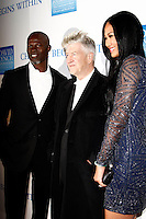 LOS ANGELES, CA - DEC 3: Djimon Hounsou, David Lynch, Kimora Lee at the 3rd Annual 'Change Begins Within' Benefit Celebration presented by The David Lynch Foundation held at LACMA on December 3, 2011 in Los Angeles, California