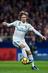 Luka Modric of Real Madrid in action during the La Liga 2017-18 match between Atletico de Madrid and Real Madrid at Wanda Metropolitano  on November 18 2017 in Madrid, Spain. Photo by Diego Gonzalez / Power Sport Images