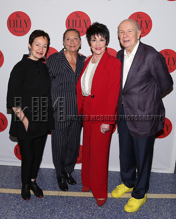 Lynn Ahrens, Graciela Daniele, Chita Rivera and Terrence McNally attend the The 6th Annual LILLY Awards at Playwrights Horizons on June 1, 2015 in New York City.
