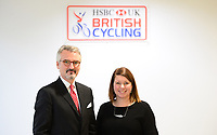 Picture by Simon Wilkinson/SWpix.com - 10/01/2017 - Cycling British Cycling - National Cycling Centre, Manchester - British Cycling new Independent Chairman - Frank Slevin and Chief Executive Officer Julie Harrington