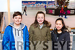Taylor Mangan, Keelyn O'Leary and Ooma Whieldon Killarney at the Killarney on Ice Skating ring on Saturday