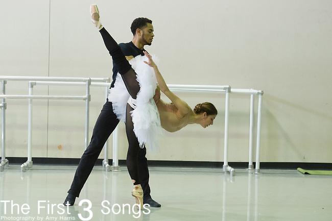 Cincinnati Ballet dancers rehearse for Bolero. The 2013-2014 marks the company's 50th Season in Cincinnati, Ohio.