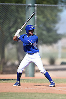 Kansas City Royals outfielder Amalani Fukofuka (47) during an Instructional League game against the Cincinnati Reds on October 16, 2014 at Goodyear Training Facility in Goodyear, Arizona.  (Mike Janes/Four Seam Images)