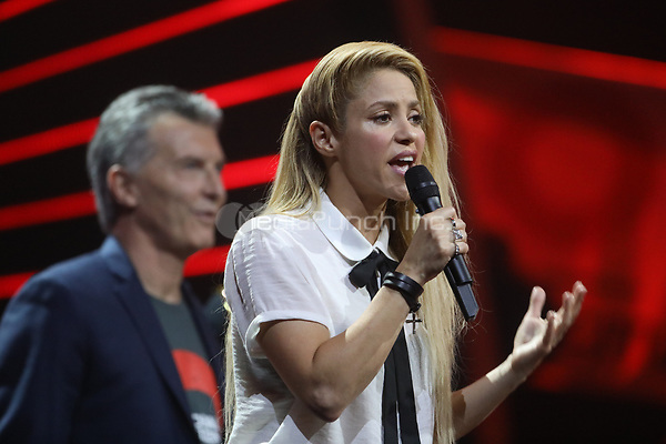 Shakira performs at the first Global Citizen Festival concert in Hamburg, Germany, 6 July 2017. Photo: Georg Wendt/dpa /MediaPunch ***FOR USA ONLY***