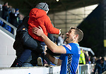 St Johnstone v Hamilton Accies&hellip;10.11.18&hellip;   McDiarmid Park    SPFL<br />David Wotherspoon celebrates at full time with his nephew Baxter Wotherspoon<br />Picture by Graeme Hart. <br />Copyright Perthshire Picture Agency<br />Tel: 01738 623350  Mobile: 07990 594431