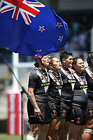 The Kiwi Ferns line up and sing the Anthem. Kiwi Ferns v England, Women's Rugby League World Cup Semi Final at Southern Cross Group Stadium, Sydney, Australia on 26 November 2017. Copyright Image: David Neilson / www.photosport.nz MANDATORY CREDIT/BYLINE : David Neilson/SWpix.com/PhotosportNZ