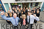 Kevin Reardon, Claire and Peter Harty celebrate with staff after winning the Irish Times Ireland's Best Family Run Shop.