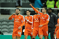 Oliver Lee of Luton Town waves to his family during Newcastle United vs Luton Town, Emirates FA Cup Football at St. James' Park on 6th January 2018