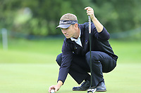 Mark Flindt Haastrup (DEN) on the 3rd green during Sunday's Final Round of the Northern Ireland Open 2018 presented by Modest Golf held at Galgorm Castle Golf Club, Ballymena, Northern Ireland. 19th August 2018.<br /> Picture: Eoin Clarke | Golffile<br /> <br /> <br /> All photos usage must carry mandatory copyright credit (&copy; Golffile | Eoin Clarke)