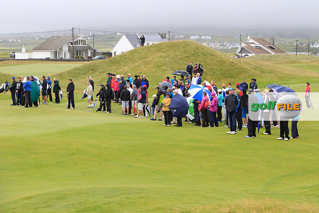 Spectators on the 15th fairway during the Final Round of the South of Ireland Amateur Open Championship at LaHinch Golf Club on Sunday 26th July 2015.<br /> Picture:  Golffile | Thos Caffrey