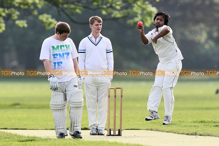 Mad Moroccas CC (batting) vs New Boys CC - Victoria Park Community Cricket League at Victoria Park, London - 21/05/12 - MANDATORY CREDIT: Gavin Ellis/TGSPHOTO - Self billing applies where appropriate - 0845 094 6026 - contact@tgsphoto.co.uk - NO UNPAID USE.