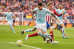 Atletico de Madrid's Fernando Torres and Celta de Vigo's Hugo Mallo during La Liga Match at Vicente Calderon Stadium in Madrid. May 14, 2016. (ALTERPHOTOS/BorjaB.Hojas)