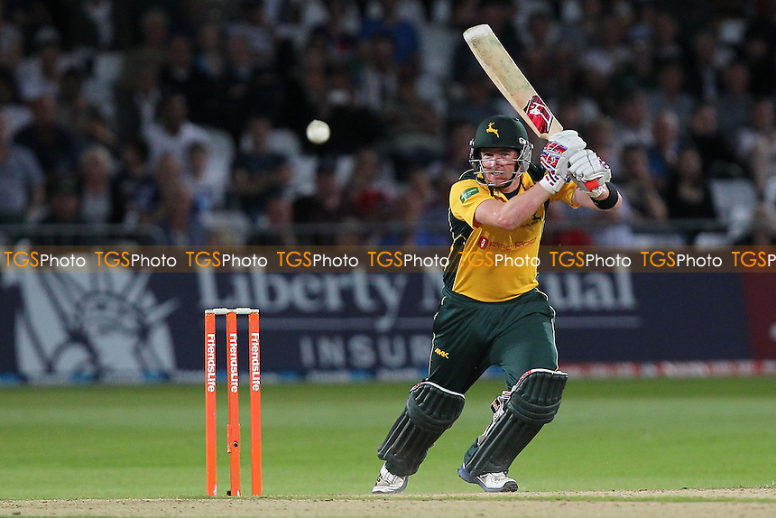Riki Wessels in batting action for Nottinghamshire- Nottinghamshire Outlaws vs Essex Eagles - Friends Life T20 Cricket Quarter-Final at Trent Bridge, Nottingham - 08/08/13 - MANDATORY CREDIT: Gavin Ellis/TGSPHOTO - Self billing applies where appropriate - 0845 094 6026 - contact@tgsphoto.co.uk - NO UNPAID USE