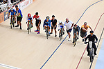 General view, <br /> AUGUST 28, 2018 - Cycling - Track : Women's Keirin Round 1 at Jakarta International Velodrome during the 2018 Jakarta Palembang Asian Games in Jakarta, Indonesia. <br /> (Photo by MATSUO.K/AFLO SPORT)