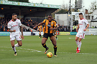 Uche Ikpeazu of Cambridge United takes a shot at goal during Cambridge United vs Accrington Stanley, Sky Bet EFL League 2 Football at the Cambs Glass Stadium on 11th November 2017