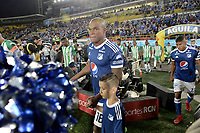 BOGOTA - COLOMBIA, 31-01-2018: Millonarios y Atlético Nacional en partido por la final ida de la SuperLiga Aguila 2018 jugado en el estadio Nemesio Camacho El Campin de la ciudad de Bogotá. / Millonarios and Atletico Nacional in first leg match for the final of the SuperLiga Aguila 2018 played at the Nemesio Camacho El Campin Stadium in Bogota city. Photo: VizzorImage / Gabriel Aponte / Staff.