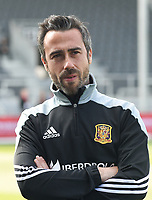 20170408 - EUPEN ,  BELGIUM : Spanish coach Jorge Vida  pictured during the female soccer game between the Belgian Red Flames and Spain , a friendly game before the European Championship in The Netherlands 2017  , Saturday 8 th April 2017 at Stadion Kehrweg  in Eupen , Belgium. PHOTO SPORTPIX.BE | DIRK VUYLSTEKE