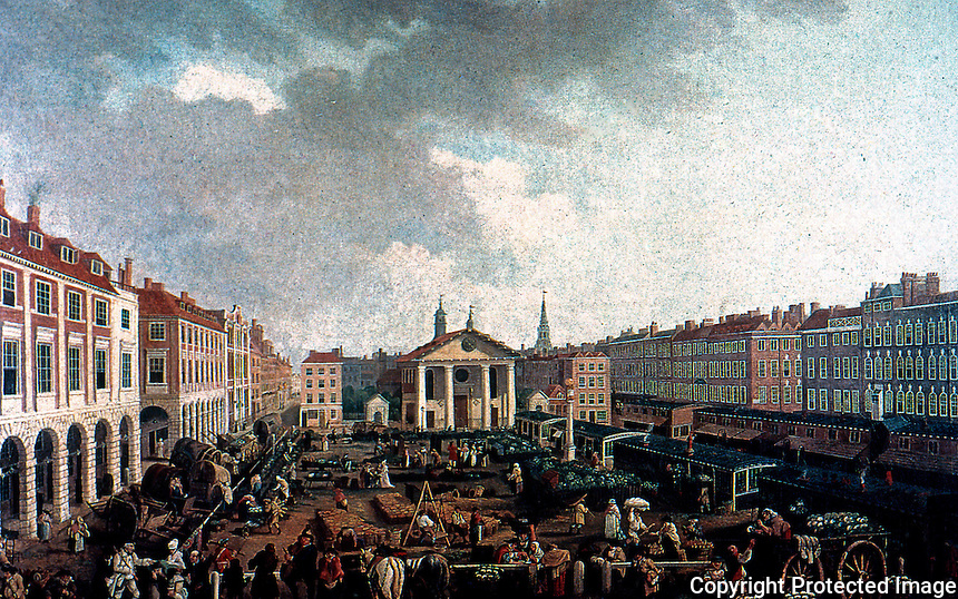 London: Covent Garden, painted about 1760 by John Collet (1725-1780)