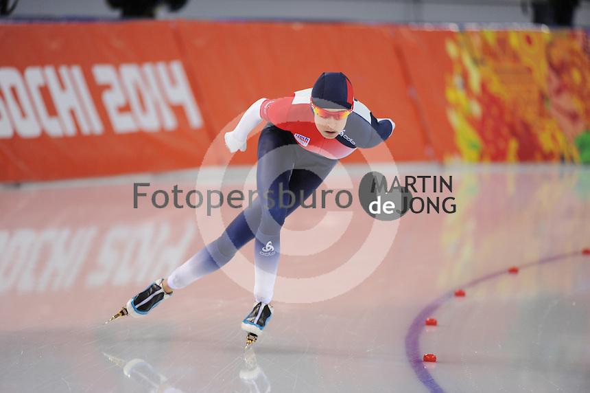 OLYMPICS: SOCHI: Adler Arena, 19-02-2014, Ladies' 5000m, Martina Sábliková (CZE), ©photo Martin de Jong