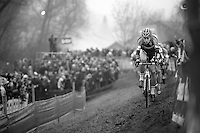 Wout Van Aert (BEL/Vastgoedservice-Golden Palace), still only 20 yrs old, leading his seniors once again this season<br /> <br /> Flandriencross Hamme 2014