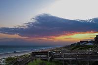 Sunset along the shore of Emerald Isle in North Carolina