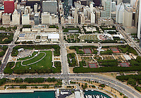 aerial photograph Millenium Park, Chicago, Illinois