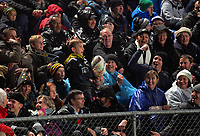 A fan throws the ball back from the terraces during the 2017 DHL Lions Series rugby union match between the NZ Maori and British & Irish Lions at Rotorua International Stadium in Rotorua, New Zealand on Saturday, 17 June 2017. Photo: Dave Lintott / lintottphoto.co.nz
