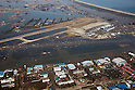 March 13, 2011, Sendai, Japan - Sendai Airport in Miyagi prefecture remains flooded on Sunday, March 13, 2011, two days after the wharf was hit by a 10-meter tsunami following a powerful earthquake with a magnitude 9.0 that jolted Japan's northeastern prefectures, wreaking havoc on otherwise beautiful coastal towns and farmlands. The death toll from the nation's worst and the world's fourth worst quake could rise above 10,000. (Photo by Yoichi Tsukioka/AFLO) [2570] -mis-