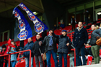 Bath Rugby fans in the crowd show their support. Heineken Champions Cup match, between Stade Toulousain and Bath Rugby on January 20, 2019 at the Stade Ernest Wallon in Toulouse, France. Photo by: Patrick Khachfe / Onside Images