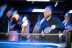 © Joel Goodman - 07973 332324 . 25/01/2018 . Leeds , UK . Guests playing table tennis at the Leeds Live launch party at Duke Studios , Sheaf Street . Photo credit : Joel Goodman