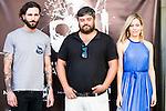 "Matt Horan, Miguel Angel Jimenez and Kimberley Tell during the presentation of the film ""La Mina"" at Cines Renoir Plaza España in Madrid. July 15. 2016. (ALTERPHOTOS/Borja B.Hojas)"