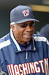 10 September 2006: Frank Robinson, Hall of Fame manager of the Washington Nationals, talks with players prior to a game against the Colorado Rockies. The Rockies defeated the Nationals 13-9 at Coors Field in Denver, Colorado...Mandatory Photo Credit: Ed Wolfstein.