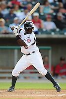 Marquez Smith swings at a pitch at Smokies Park in Sevierville, TN May 21, 2009 (Photo by Tony Farlow/ Four Seam Images)