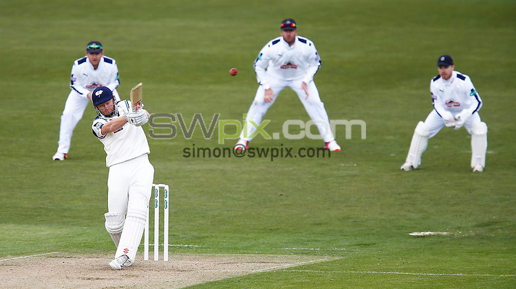 Picture by John Clifton/SWpix.com - 17/04/2016 - Cricket - Specsavers County Championship Division One - Yorkshire CCC v Hampshire CCC, Day 1 - Headingley Cricket Ground, Leeds, England - Jonny Bairstow of Yorkshire hits a six